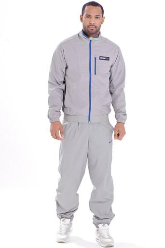 bde1fa88b465 Мужской костюм из куртки на молнии и брюк с широкими манжетами удобен для  спорта, прогулок, путешествий.