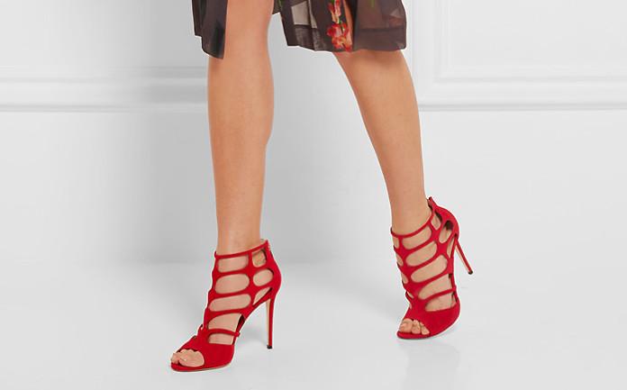 41987544e Красные босоножки (83 фото) – отличное дополнение любого гардероба